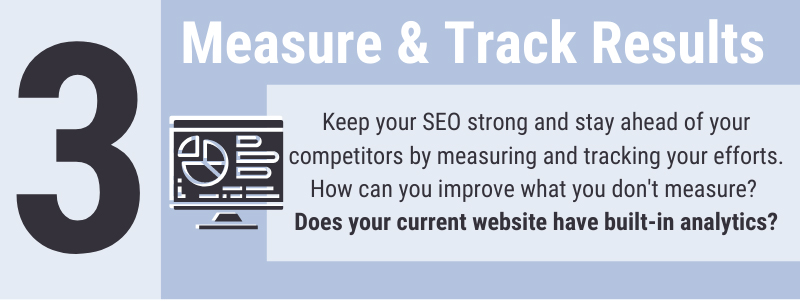 Measuring your website's SEO and staying on top of your analytics is important for your website's success. You need good website design and the analytics to back it up if you want to succeed online and grow your Wichita business.
