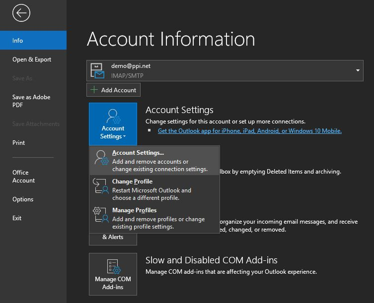 How to Setup SmarterMail Email Settings in Outlook
