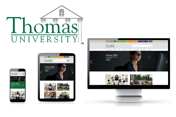 Thomas University Custom Website Design and Development by Pen Publishing Interactive